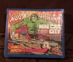 The Amazing Spider Man Incredible Hulk Mini Car City Vinyle Play Set | eBay