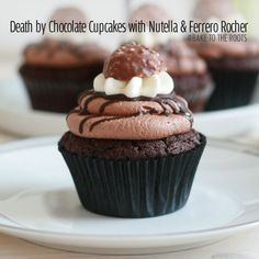 Death by Chocolate Cupcakes with Nutella & Ferrero Rocher | Bake to the roots