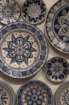 plates with folk art decoration from northern Hungary