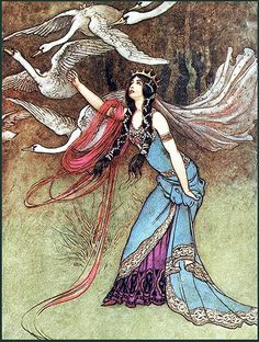Illustration by Warwick Goble.
