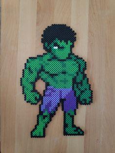 Hulk Hama beads Magnet or Wall fridge Hulk, Pixel Beads, Block Craft, Handmade Items, Handmade Gifts, Great Christmas Gifts, Pulp Fiction, Bead Art, Perler Beads