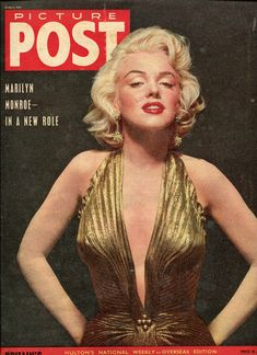"marilyn monroe Magazine Covers | Marilyn Monroe Marilyn On The Cover Of ""Picture Post"" Magazine"