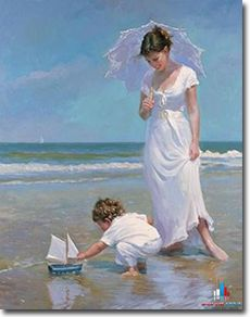 Original Painting, Sailing Vessels by Vladimir Volegov