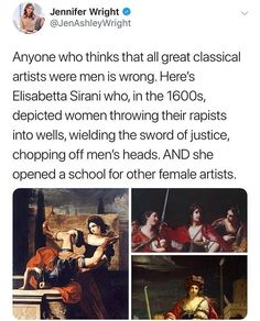 Elisabetta Sirani - an Italian Baroque painter and graphic artist.Elisabetta Sirani – an Italian Baroque painter and graphic artist. In the… - Education Subjects History Facts, Art History, History Memes, Faith In Humanity Restored, Badass Women, The More You Know, Interesting History, Women In History, Good People