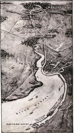 Bird's-eye view of the Manchester Ship Canal. Highroads of Geography, Third Book (London: Thomas Nelson and Sons, 1913).