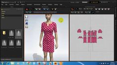 Thiết kế mẫu Váy chấm bi đỏ - Mẫu 4 trên phần mềm thiết kế thời trang