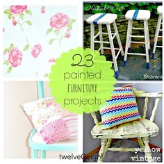 twelveOeight: 23 Painted Furniture Projects-Just In Time For Summer!(Diy Furniture Painting)