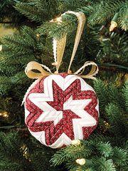 Pinwheel No-Sew Ornament Pattern