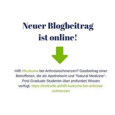 Hilft #Kurkuma bei Athroseschmerzen? Eines unserer Gruppenmitglied ist Apothekerin und Post Graduate Studentin an der @donau.uni Krems #NaturalMedicine und selbst #Artrose Betroffene. Wie Kurkuma bei Arthroseschmerzen helfen kann beantwortet sie mit einem Gastbeitrag für Österreichs Arthrose & Lifestyle Blog @tirolturtle  #arthrose #knorpel #knorpelabbau #gelenkverschleiss #gelenke #coxarthrose #gonarthrose #rizarthrose #endoprothese #totalendoprothese #künstlichesgelenk #schmerzen… Art Rose, Uni, Poster, Blog, Pharmacists, Turmeric, First Aid, Knowledge, Blogging
