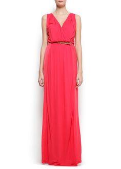 Coral maxi dress, Mango
