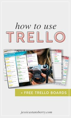 HOW TO USE TRELLO  Essentially, Trello is broken down into boards, lists, and cards.Trello boards can be public, private to your team, or just private to you. Your boards are then made up of lists. In fact, you can have as many lists as you possibly want! #allthelists!!!