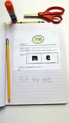 Interactive Sight Word Notebooks for Kindergarten … Sight Word Sentences, Teaching Sight Words, Sight Word Practice, Sight Word Activities, Language Activities, Word Games, Word Notebooks, Interactive Notebooks, Kindergarten Language Arts