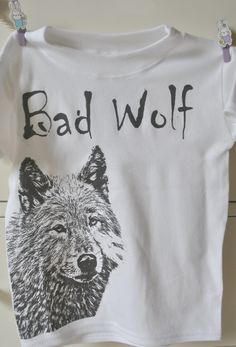Bad Wolf Dr Who Inspired Tee by retrostate Unisex by retrostate, £8.50