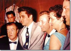 elvis and lou costello   Elvis Presley with comic Lou Costello and actress Jane Russell ...