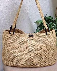 Annabel Ingall Australia Xl Raffia Tote Market Bag Shoulder Handbag Handmade Ebay