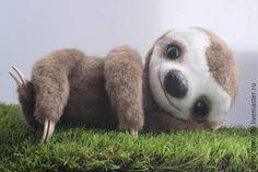 Купить Ленивец Флэш - коричневый, ленивец, реалистичный, ручная работа, авторская работа