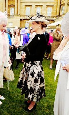 The Countess of Wessex attends a Garden Party in honor of the centenary of the Women's Institute, held at Buckingham Palace on June 2, 2015 in London, England.