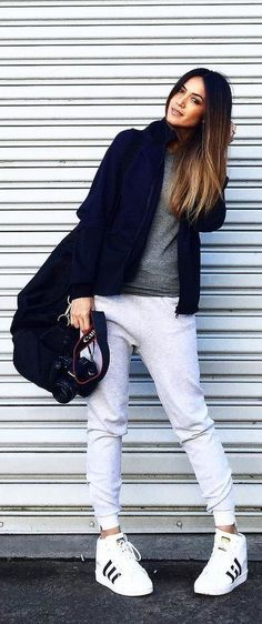 The Stylish Way to Pull Off the Athleisure Trend Athleisure Trend, Athleisure Outfits, Athleisure Fashion, Tennis Shoes Outfit, Cute Lazy Outfits, Casual Street Style, Street Chic, Weekend Wear, Sport Fashion