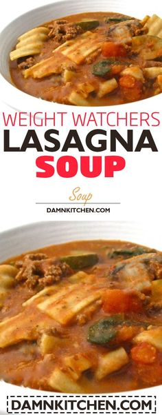 Could easily make a paleo version. slow cooker recipes weight watchers  recipes with points LASAGNA SOUP