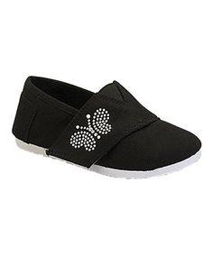 Belladia Black Stud Butterfly Tomy Shoe by Belladia #zulily #zulilyfinds