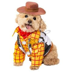 The Disney Toy Story Woody Pet Costume is the best 2019 Halloween costume for you to get! Everyone will love thisDog and Cat costume that you picked up from Wholesale Halloween Costumes! Toy Story Dog Costume, Costume Dress, Cowboy Dog Costume, Puppy Halloween Costumes, Pet Costumes, Funny Halloween, Disney Costumes, Puppy Costume, Carnival