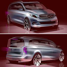 2015 Mercedes-Benz V-Class Design Sketches by Felipe Gorsten
