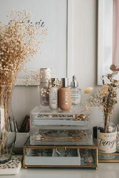 Dior Makeup collection of Room Ideas Bedroom, Home Decor Bedroom, Aesthetic Room Decor, Beige Aesthetic, My New Room, Interior Design, Dior Makeup, Makeup Collection, Makeup Organization
