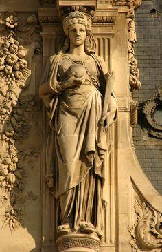 Cariatides. PavillonTurgot . Le Louvre