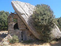 dragonhouse on Ikaria island Ikaria Greece, Dragon House, Greek House, Windmills, Travel Around, Barns, Mother Nature, Places Ive Been, Windows