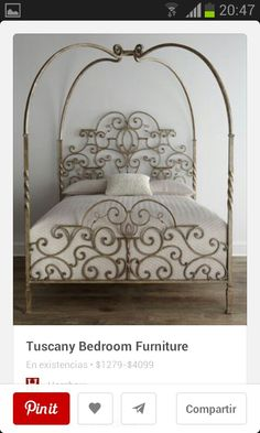Double Check and Discover A Very Affordable Purchase of Tuscany Canopy Bed King. Take A Second To Check Out Why Tuscany Canopy . & Highland House Furniture: HH11-136-MA - Couronne King Metal Bed. I ...