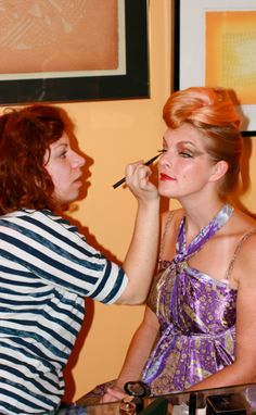The super talented Carmel Clavin helping Valerie A. Heck Esmont get her glam on for Michelle Pajak-Reynolds Opulence jewelry collection lookbook photoshoot with Pat Jarrett last summer. Check out the finished results here http://michellepajakreynolds.com/opulence/ Hair by Olivia Suzanne Davis