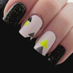 Cool chic nails.
