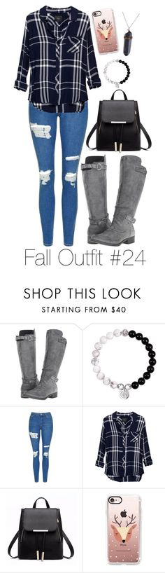 """""""Fall Outfit #24"""" by megan-walz21 ❤ liked on Polyvore featuring Rocket Dog, Topshop, Rails and Casetify"""