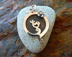 Handmade silver jewellery Bird in The by SharnaFlowersDesigns, $109.00