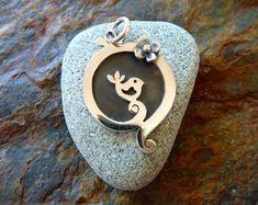 Handmade silver jewellery Bird in The by SharnaFlowersDesigns, $109.00