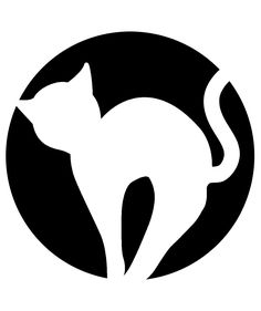 Cat Pumpkin Carving Stencil | These stencil designs will help you carve the coolest jack-o-lanterns on the block, minimal effort required.