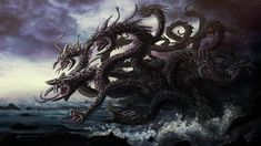 Photo of dark mythical sea creatures for fans of Mythical creatures 30931948 Mythical Sea Creatures, Mythological Creatures, Fantasy Creatures, Alien Creatures, Hydra Mythology, Greek Mythology, Constellation Du Cancer, Hydra Monster, Snake Monster