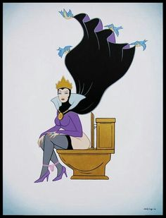 Lovely Grimilde in bathroom