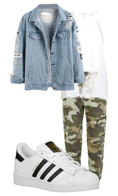 """""""Untitled #40"""" by georgiarose2008 on Polyvore featuring True Religion, SUGAR LIPS and adidas Originals"""