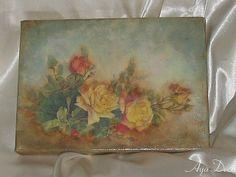 Todos os tamanhos | Roses - decoupage painting | Flickr – Compartilhamento de fotos!