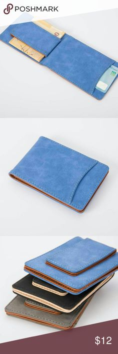 "Slim Wallet Money Clip Unisex Features: Casual, Travel style Bullet Points: dull polish Condition: Brand new, casual style, portable Material: dull polish leather Style: ID CARD Wallet Size:  4.5"" x 3""  Package included: 1 x Card Holder Wallet none Bags Wallets"