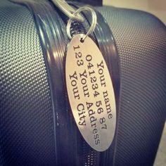 X2 Personalised Luggage Tags personalised travel accessory wedding groomsman