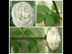 Белая роза из фоамирана - YouTube