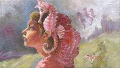 """Seahorse Lady: Advanced Communications"" - Original Fine Art for Sale - © Theresa Bayer"