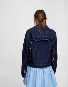 Veste denim volants dos - Manteaux et blousons - Vêtements - Femme - PULL&BEAR France