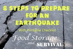 8 Steps to Prepare for an Earthquake With Printable Checklist - Food Storage and Survival