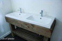 Vanity sink base 18