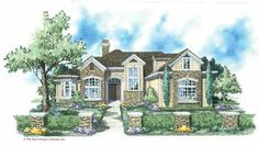An Impressive Manor (HWBDO11110) | French Country House Plan from BuilderHousePlans.com