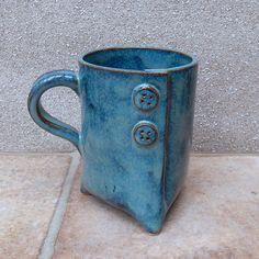 Statief koffie mok thee beker steengoed aardewerk keramiek handgemaakte 3 drie voeten