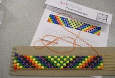 SUPER cool elementary wampum belt weaving. Detailed instructions. AWESOME project!